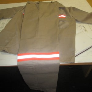 Reflective work uniform