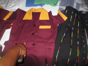 Ikgodiseng sewing uniforms project, Nozala Trust