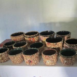 Nokuxhotjiswa decorative shell pots